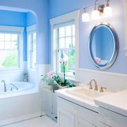 清新风格别墅室内浅蓝色卫生间装修效果图欣赏