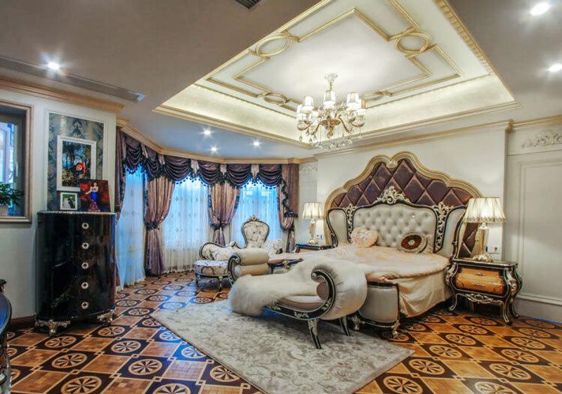 法式风格精致别墅室内精美卧室背景墙装修效果图