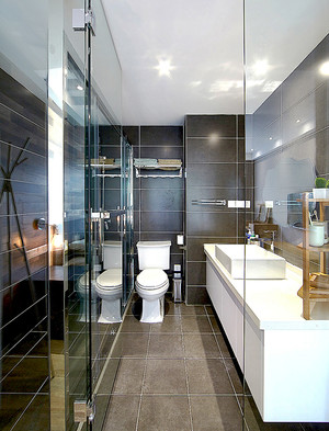 107平米现代风格精装三室两厅装修效果图案例