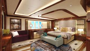 中式风格酒店客房设计装修效果图
