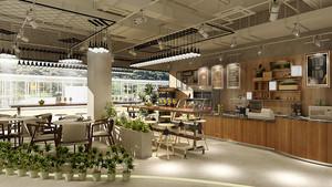 80平米现代简约风格咖啡厅设计装修效果图赏析