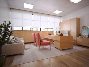 50平米现代简约风格老总办公室装修效果图
