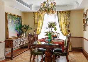 古典欧式风格别墅精致餐厅设计装修效果图
