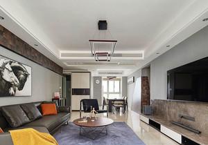 后现代风格简约灰色系客厅装修效果图欣赏