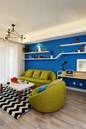 65平米现代风格时尚混搭一居室小户型装修效果图