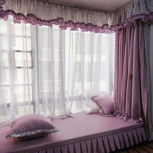 简欧风格高雅紫色飘窗设计效果图赏析