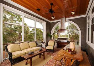 美式风格别墅室内精致阳台装修效果图赏析