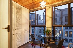 121平米简约美式风格三室两厅室内装修效果图案例