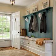 简约美式风格别墅室内玄关鞋柜设计装修效果图