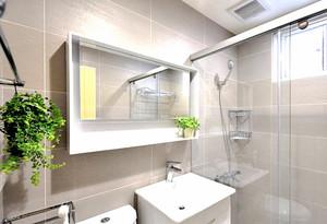 64平米清新风格简约一居室小户型装修效果图案例