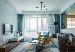 清新风格简约客厅电视背景墙装修效果图赏析