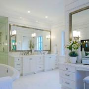 简欧风格别墅室内白色豪华卫生间装修效果图赏析