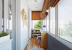 现代简约风格阳台书房装修效果图赏析