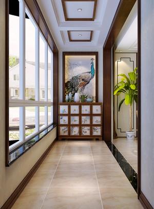 153平米中式风格古典精致复式楼室内装修效果图