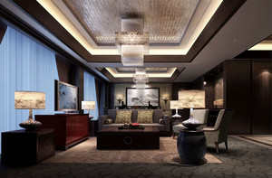 中式風格五星級酒店豪華客房設計裝修效果圖賞析