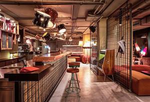 80平米混搭风格创意酒吧吧台装修效果图
