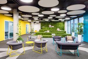 现代简约风格办公室吊顶设计装修效果图