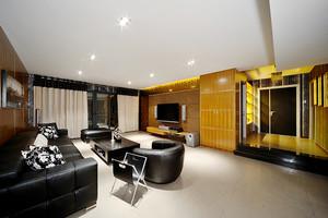 124平米后现代风格精致三室两厅室内装修效果图案例
