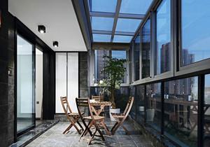 后现代风格封闭式阳台设计装修效果图