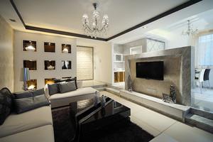 90平米简欧风格精致室内装修效果图案例