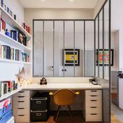现代简约风格开放式书房设计装修效果图