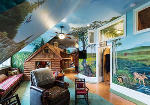美式风格动物世界创意阁楼设计装修效果图