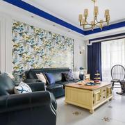 美式风格简约清爽客厅背景墙装修效果图赏析