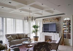 95平米清新美式风格三室两厅室内装修效果图赏析