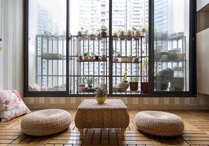 日式风格简约榻榻米阳台设计装修效果图赏析
