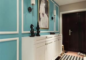 混搭风格清爽两室两厅室内装修效果图案例