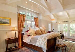 田园风格别墅室内温馨卧室装修效果图案例