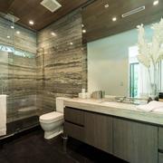 现代风格大户型精致卫生间装修效果图赏析