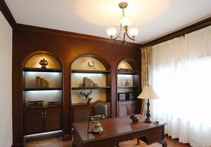 新古典主义风格别墅室内书房设计装修效果图