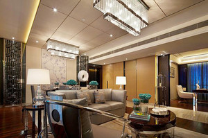 154平米新中式风格精致大户型室内装修效果图案例