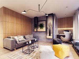58平米宜家风格简约单身公寓装修效果图案例