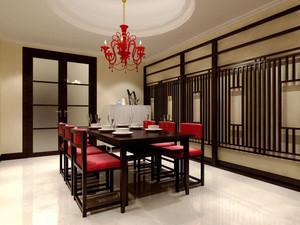中式风格古典精致大户型餐厅设计装修效果图