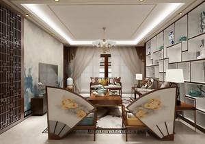 中式风格大户型精致创意客厅装修效果图赏析