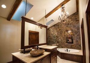 中式风格别墅室内精致卫生间装修效果图鉴赏