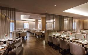 简欧风格五星级酒店餐厅装修效果图赏析