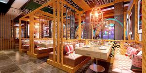 140平米混搭风格特色餐厅装修效果图赏析