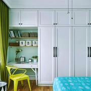 北欧风格简约清爽卧室衣柜设计装修效果图