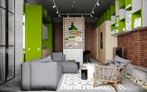 64平米现代风格精致单身公寓装修效果图欣赏