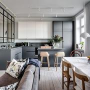 后现代风格开放式厨房隔断设计装修效果图赏析