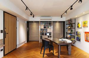 80平米现代简约风格两室两厅室内装修效果图案例