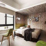 宜家风格简约灰色系卧室背景墙装修效果图