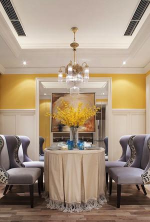 欧式风格别墅室内精美餐厅吊灯装修效果图