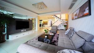 180平米现代简约风格复式楼室内装修效果图欣赏