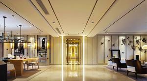 243平米新中式风格古典与现在融合别墅室内装修效果图