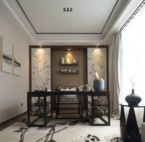 中式风格大户型精致书房设计装修效果图赏析