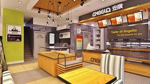 44平米现代简约风格面包店装修效果图